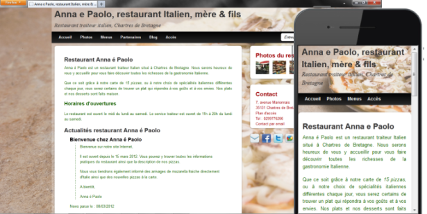 exemple de site de restaurants